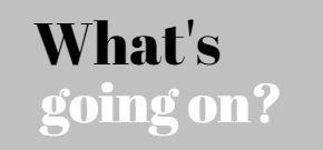 WHAT'S GOING ON? Ons dagelijks mini-blog